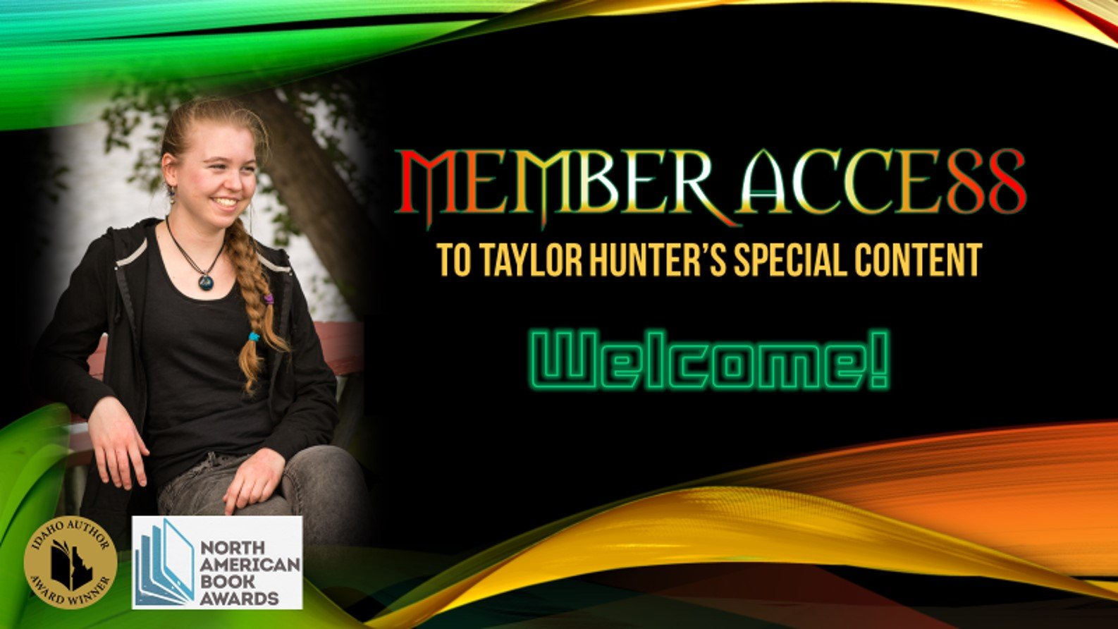 Taylor Hunter's Login Welcome Page